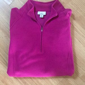 Fleece tunic LL Bean sz XL